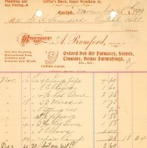 Image of A. Rumford Plumbing Invoice