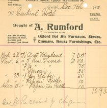 Image of A. Rumford Plumbing Invoice