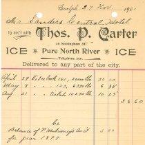 Image of Thomas P. Carter Invoice