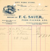 Image of F.C. Sauer Invoice