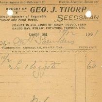 Image of Geo. Thorp Invoice