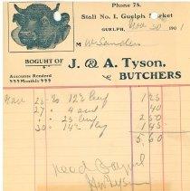 Image of J & A Tyson Butchers 1901