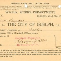 Image of Guelph Waterworks Invoice