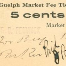 Image of Guelph Market Ticket