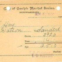 Image of Guelph Market Receipt