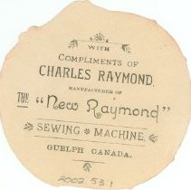 Image of Raymond Ad Card - Back