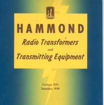 Image of Hammond Transformers Catalogue
