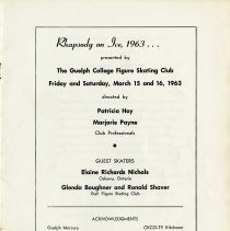 Image of Rhapsody on Ice, 1963, Program, p.1