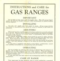 Image of Guelph Stove Co. Instructions