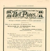 Image of Bell Piano Ad