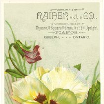 Image of Rainer & Co. Ad Card-Front