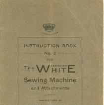 Image of White Sewing Machine Manual