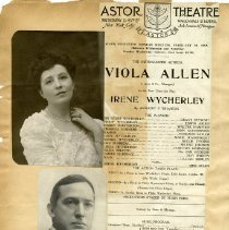 "Image of Program and Actors of Play, ""Irene Wycherley,"""