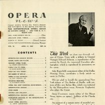 Image of Opera News, Cover Story, p.1