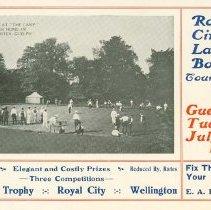 Image of Royal City Lawn Bowling, 1910