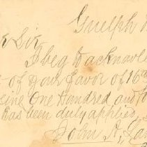 Image of Receipt from John Lamprey,1893