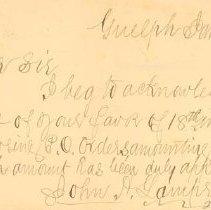 Image of Receipt from John Lamprey,1899
