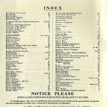 Image of Index, F.W. Jones & Son Catalogue, 1940