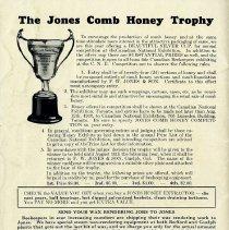 "Image of ""The Jones Comb Honey Trophy,"" back cover"