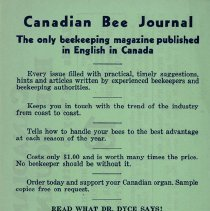 Image of Canadian Bee Journal Order Form