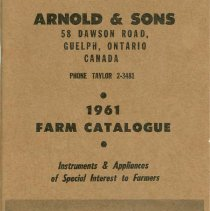 Image of Arnold & Sons Catalogue, 1961