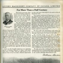 "Image of ""For More Than Half A Century,"" Wm. Louden, page 149"