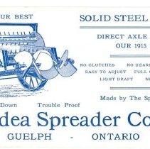 Image of New Idea Spreader Co. Blotter