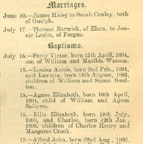 Image of Marriage, Baptisms and Burials, p.4