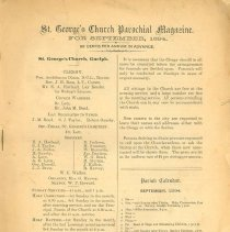 Image of St. George's Church Parochial Magazine, Sept. 1894, p.1