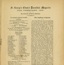 Image of St. George's Church Parochial Magazine for February 1908, p.1