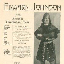 Image of Edward Johnson Ad, 1929