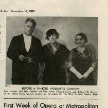 "Image of Article, ""First Week of Opera at Metropolitan,"" p.4"