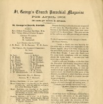 Image of St. George's Church Parochial Magazine, April 1902, p.3