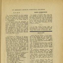 Image of Men's Communion; Obituary of Mr. R. Card, p.5