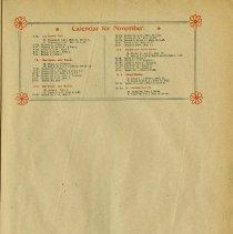 Image of Calendar for November, p.7
