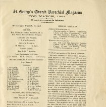 Image of St. George's Church Parochial Magazine, March 1903, p.1