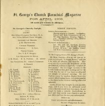 Image of St. George's Church Parochial Magazine, April 1903, p.1