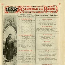 Image of 1903 Calendar For March, Proper Lessons, p.5