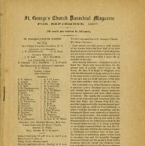 Image of St. George's Church Parochial Magazine, Sept. 1907, p.1