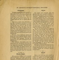 Image of Christmas; Watch Night; Church Notes, p.2