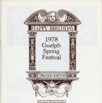 """Image of """"1978 Guelph Spring Festival Program,"""" p.1"""