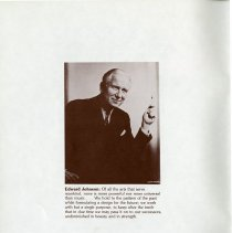 Image of Reprint of Karsh Photograph of Edward Johnson, p.2
