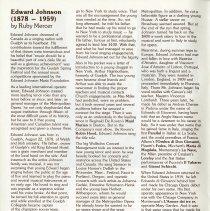 "Image of ""Edward Johnson, 1878-1959,"" by Ruby Mercer, p.4"