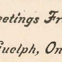 Image of Greetings from Guelph