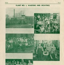 "Image of Web, ""Plant No.1, Warping and Weaving"", page 3"