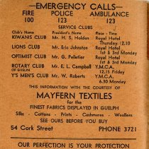 Image of Emergency Numbers, back cover