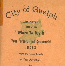 Image of City of Guelph Index, 1954