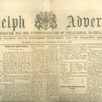 Image of Guelph Advertiser, 1852