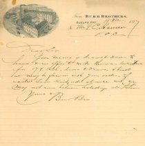 Image of Letter from Burr Bros., 1897