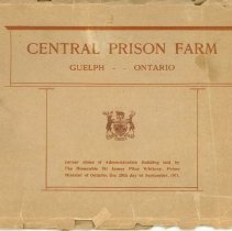 Image of Central Prison Farm Booklet